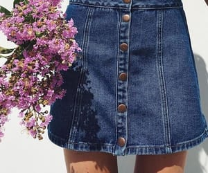 aesthetic, denim, and floral image