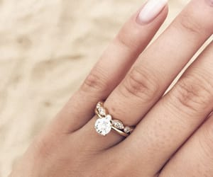 beach, engagement, and gold image