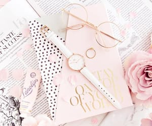 girly, pink, and roses image