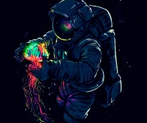 jellyfish, spaceman, and star image