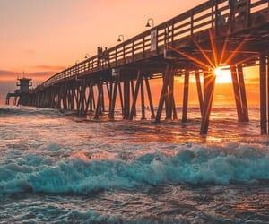 beach, ocean, and scene image