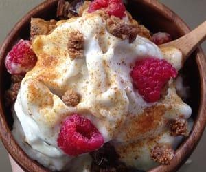 bowl, food, and yogurt image