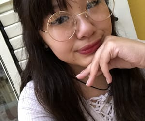 asian girl, japanese girl, and round glasses image