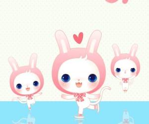 animals, bunny, and fashionable image
