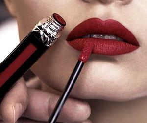 fashion, make-up, and lips image
