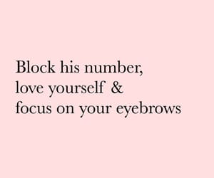 block, eyebrows, and focus image