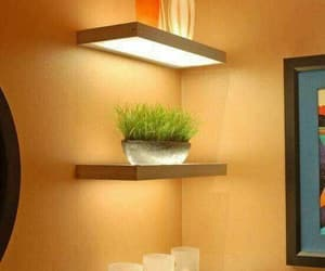 interior design, modern, and shelves image
