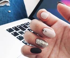 black, glitter, and style image