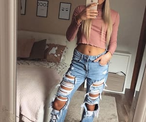 blonde hair, fashion, and iphone image