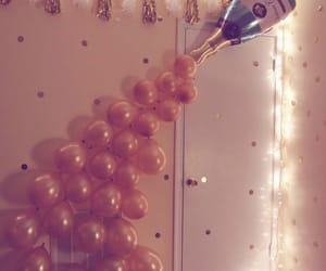 balloons, party, and lights image