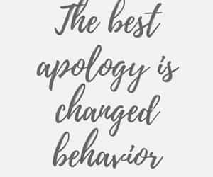 quotes, apology, and text image