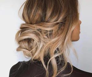 bun, girl, and hair image
