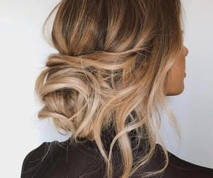 bun, girl, and hairstyles image