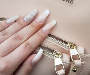 baby pink, glitter, and lovenails image