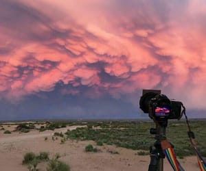 nature, photography, and pink sky image
