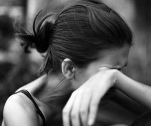 girl, cry, and sad image