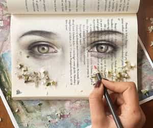 book, art, and eyes image