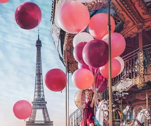 baloons, france, and girl image