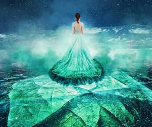 dress, fairytale, and green image