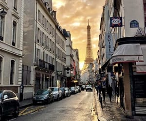 clouds, eiffel tower, and sunshine image