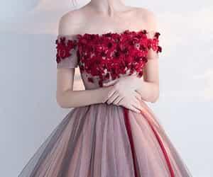 dress, burgundy prom dress, and burgundy prom dresses image