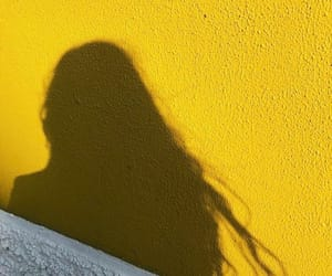 yellow, aesthetic, and shadow image