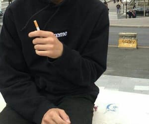 cigarette, boy, and grunge image