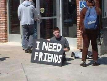 friends and sad image