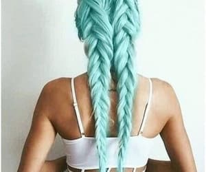 top, blue, and hairstyle image