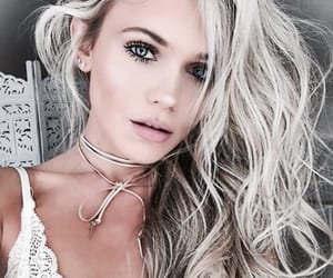 beautiful, blonde, and make up image