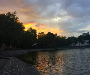 lake, sky, and chapultepec image