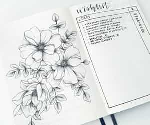 flowers, ideas, and journal image