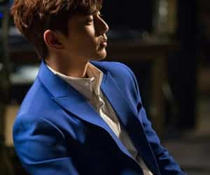 Korean Drama, navy blue, and suit image
