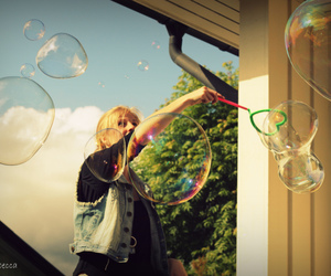 bubbles, colour, and girl image