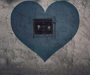 blue, heart, and trapped image