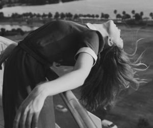 girl, black and white, and free image