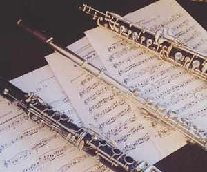 clarinet, flute, and music notes image