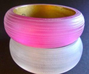 acrylic, pink, and bangles image