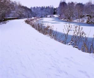 canal, river, and winter image