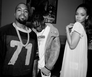 rihanna, kanye west, and travis scott image
