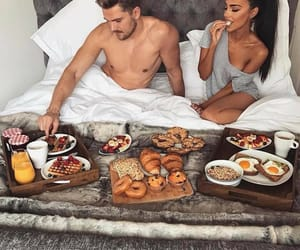 breakfast, couple, and love image