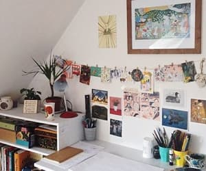 room, desk, and decor image