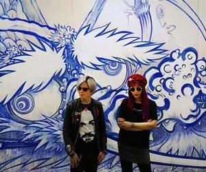 takashi murakami art, octopus eats own leg, and dragon painting murakami image