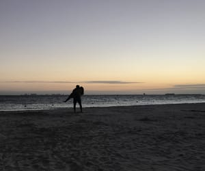 beach, couple, and forever image