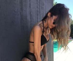 bikini, fashion, and black image