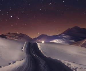 landscape and stars image