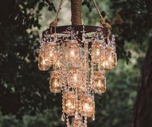 light, chandelier, and diy image