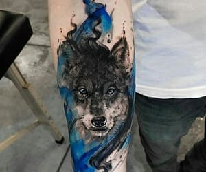 tattoo, wolf, and love image