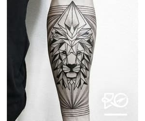 geometric, leon, and tattoo image