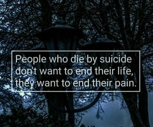 suicide, life, and pain image